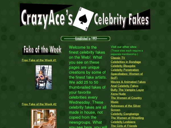 Crazyacefakes.com Billing Form