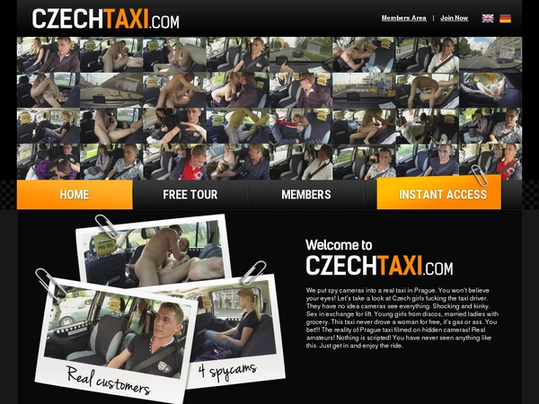 Czech Taxi With Directpay