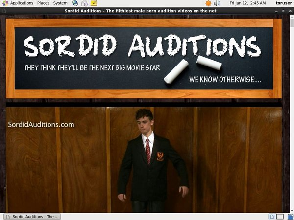 Sordid Auditions Save 50% On 30Day Pass